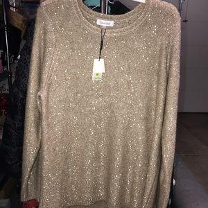 NTW Calvin Klein Champagne Sequin Sweater